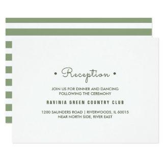 Cartões da recepção de casamento das listras do