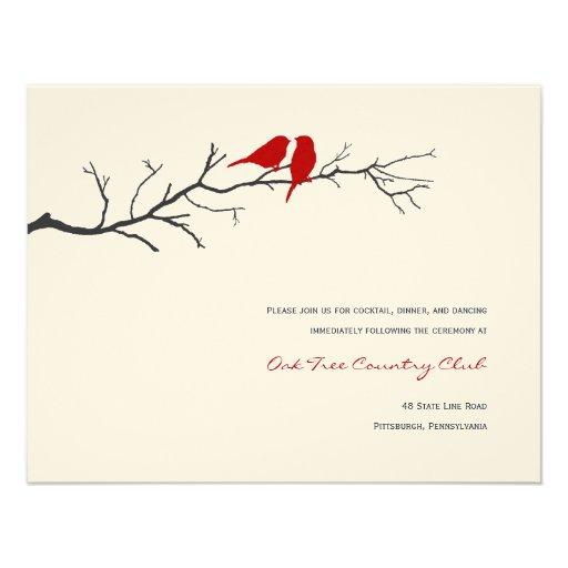 Cartões da recepção de casamento das silhuetas dos convites personalizado