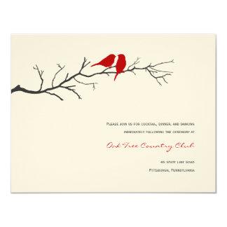 Cartões da recepção de casamento das silhuetas dos convite 10.79 x 13.97cm