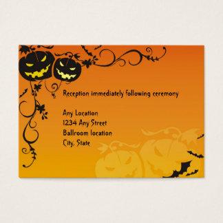 Cartões da recepção de casamento do Dia das Bruxas