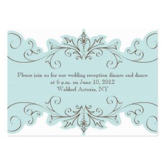 Cartões da recepção de casamento do redemoinho do cartão de visita grande