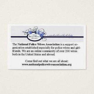 Cartões da referência da associação das esposas da