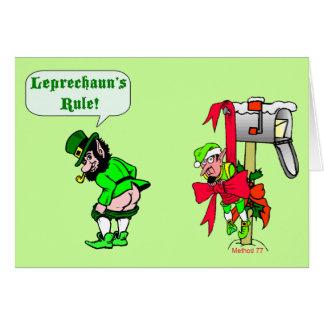 Cartões da regra dos Leprechauns