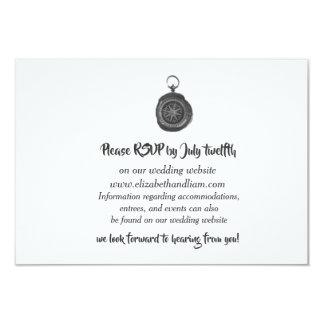 Cartões da resposta do casamento do compasso