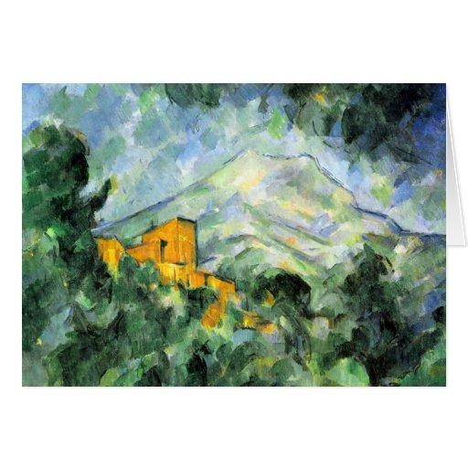 Cartões das belas artes de Cezanne