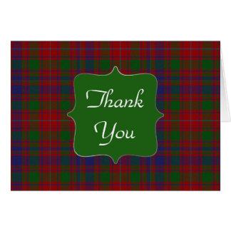 Cartões de agradecimentos à moda da xadrez de MacI