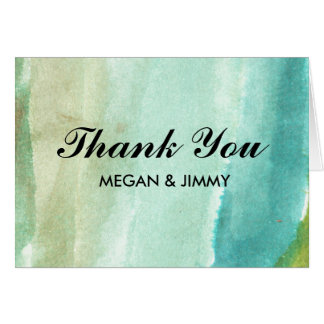 cartões de agradecimentos abstratos verdes da