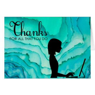 Cartões de agradecimentos administrativos dos