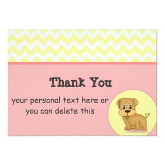 Cartões de agradecimentos adoráveis bonitos do convite 12.7 x 17.78cm