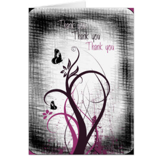 Cartões de agradecimentos afligidos da borboleta