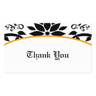 Cartões de agradecimentos alaranjados do jardim modelo cartão de visita