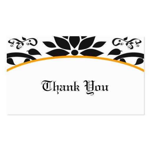 Cartões de agradecimentos (alaranjados) do jardim  modelo cartão de visita