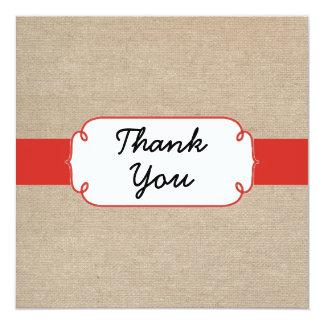 Cartões de agradecimentos alaranjados e bege convite quadrado 13.35 x 13.35cm