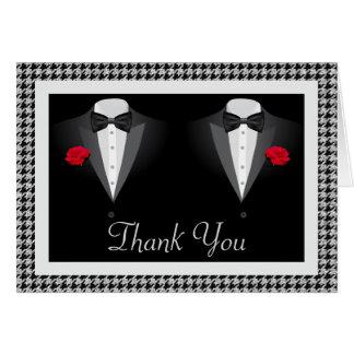 Cartões de agradecimentos alegres do casamento com
