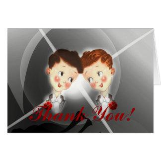 Cartões de agradecimentos alegres do casamento dos