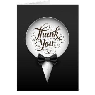 Cartões de agradecimentos alegres elegantes