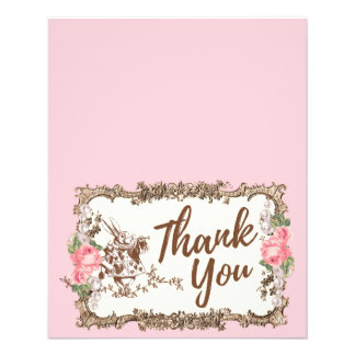 Cartões de agradecimentos - Alice no país das