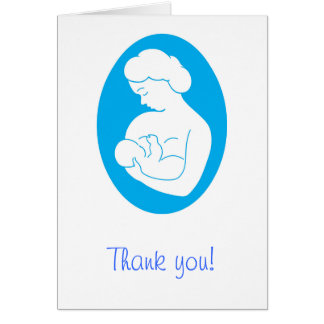 Cartões de agradecimentos amamentando