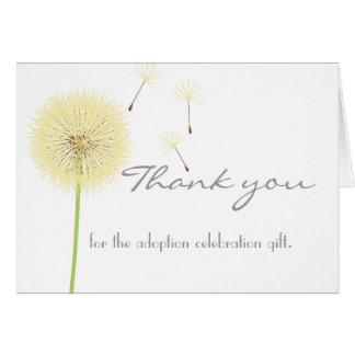 Cartões de agradecimentos amarelos do