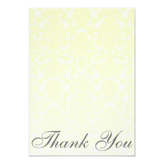 Cartões de agradecimentos amarelos extravagantes convite 12.7 x 17.78cm