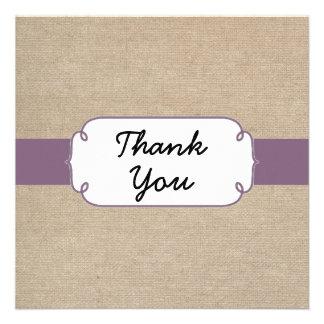 Cartões de agradecimentos Amethyst e bege do vinta Convite Personalizados