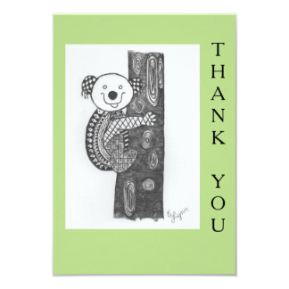 Cartões de agradecimentos animais do design convite 8.89 x 12.7cm