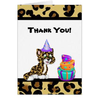 Cartões de agradecimentos animais do impressão do