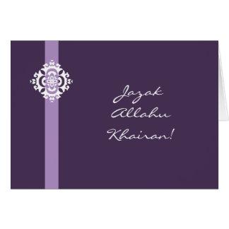 Cartões de agradecimentos árabes do Islão -