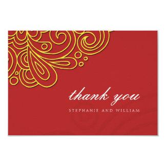 Cartões de agradecimentos asiáticos do casamento convite 8.89 x 12.7cm