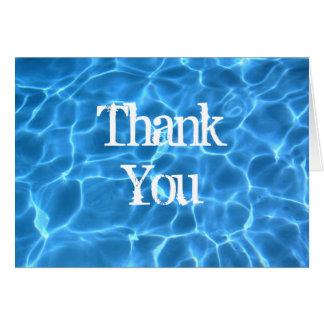 Cartões de agradecimentos azuis da piscina