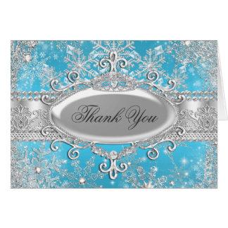Cartões de agradecimentos azuis da princesa Invern