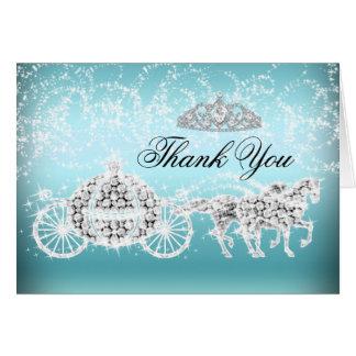 Cartões de agradecimentos azuis da princesa Tema