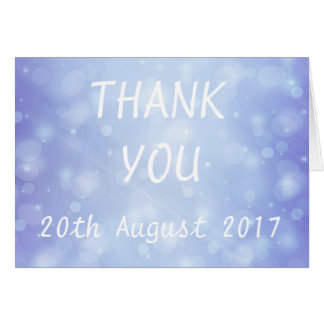 Cartões de agradecimentos azuis do casamento