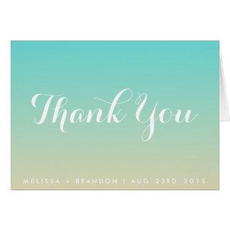 Cartões de agradecimentos azuis do casamento de