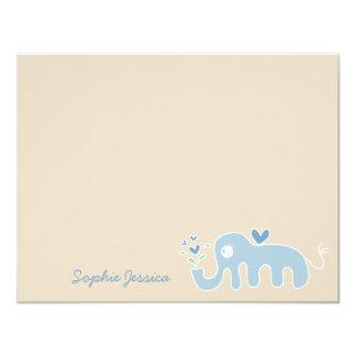 Cartões de agradecimentos azuis do chá do bebé do convites personalizado