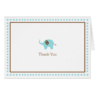 Cartões de agradecimentos azuis do elefante