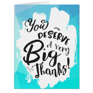 Cartões de agradecimentos azuis do gigante da