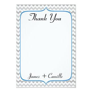 Cartões de agradecimentos azuis e cinzentos convite 12.7 x 17.78cm