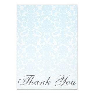 Cartões de agradecimentos azuis extravagantes do convite 12.7 x 17.78cm