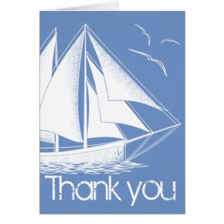 Cartões de agradecimentos azuis náuticos