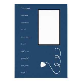 Cartões de agradecimentos - azul convite 12.7 x 17.78cm