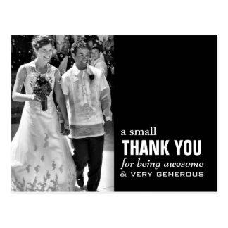 Cartões de agradecimentos baratos do casamento -