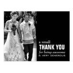 Cartões de agradecimentos baratos do casamento - f cartao postal