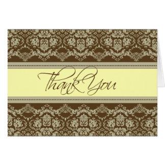 Cartões de agradecimentos barrocos do laço do