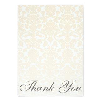 Cartões de agradecimentos bege simples & convite 12.7 x 17.78cm