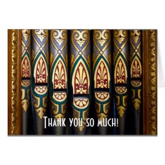 Cartões de agradecimentos bonito das tubulações de