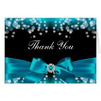 Cartões de agradecimentos bonito do arco & da