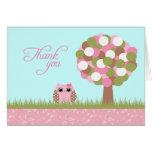 Cartões de agradecimentos bonitos da árvore da cor