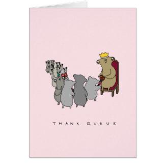 Cartões de agradecimentos bonitos da preguiça da