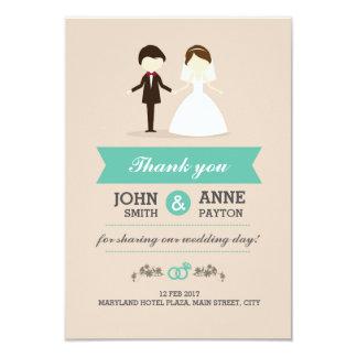 Cartões de agradecimentos bonitos do casamento do